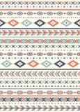 Textures ethniques sans couture de modèle Copie géométrique de Navajo abstrait Couleurs grises et oranges Image libre de droits