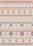 Textures ethniques sans couture de modèle Copie géométrique de Navajo abstrait Couleurs grises et oranges Photos stock