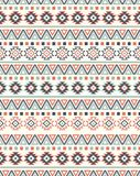 Textures ethniques sans couture de modèle Copie géométrique de Navajo abstrait Couleurs grises et oranges Photo libre de droits