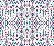 Textures ethniques sans couture de modèle Couleurs roses et bleues Photo stock