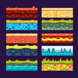 Textures For Games Platform, Set Of Vector Stock Photo