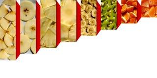 Textures fruitées à l'intérieur des boîtes rectangulaires Image stock