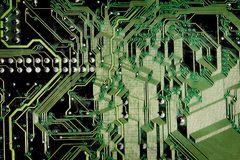 Textures: Grunge Circuit Board Stock Image