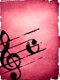 Textures grunges de mélodie Image libre de droits