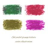 Textures grunges en pastel réglées. Illustration ENV 10 de vecteur Photographie stock