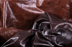 Textures of leather Stock Photography