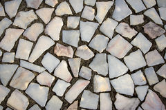 Textures of many white stones Royalty Free Stock Photography