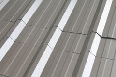 Textures of metal roof. Royalty Free Stock Images