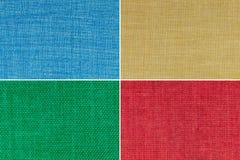 Textures multicolores réglées Photographie stock