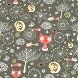 textures normales avec des chats et des poissons   Photo stock