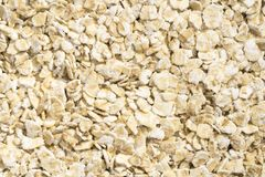 Textures of Oatmeal. Closeup view and pattern of some Oatmeal Stock Images