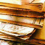 Textures of old books Royalty Free Stock Image
