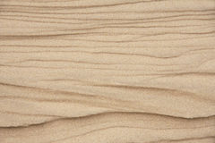 Textures and Pattern on Beach Sand Stock Image