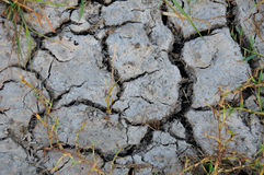 Textures and patterns of a cracked dry soil Royalty Free Stock Photography