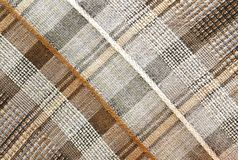 Textures - Plaid Brown Background Stock Images