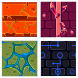 Textures for Platformers Icons Vector Set Games Royalty Free Stock Photo