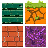 Textures for Platformers Icons Vector Set of Gems Royalty Free Stock Image