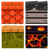 Textures for Platformers Icons Vector Set  Stock Image