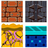 Textures for Platformers Icons Vector Set  Stock Images