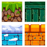 Textures for Platformers Icons Vector Set  Royalty Free Stock Photography