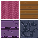 Textures for Platformers Icons Vector Set of Stone. Textures for Platformers Icons Vector Illustration Set of Stone, Wood and Gems Stock Photo