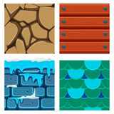 Textures for Platformers Icons Vector Set of Wood Stock Photography