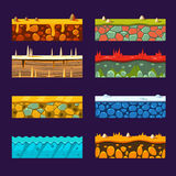 Textures for Platformers, Set of Vector Stock Photography
