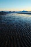 Textures of sand at Pantai Puteri, Sarawak. The view of Pantai Puteri or in english Pricess Beach during low tide located at Santubong Sarawak. Pantai Puteri is Royalty Free Stock Image