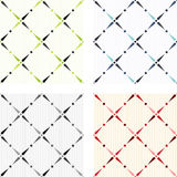 Textures sans joint colorées classiques Image stock