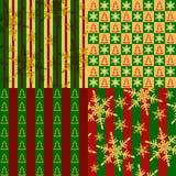 textures sans joint de positionnement de Noël Images stock