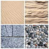 Textures of stone and sand Stock Photography