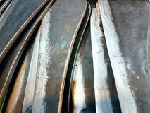Textures of thai big knife. The textures of thai steel big knife Royalty Free Stock Image