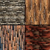 Textures of tiled  wooden floor Royalty Free Stock Photos