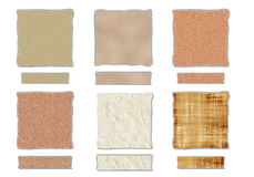 Textures with torn edges Royalty Free Stock Photography