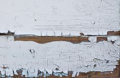Texturhintergrund von den alten Brettern umfasst mit der wei?en Farbe geknackt vom hohen Alter lizenzfreies stockbild
