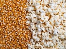 Texturice el fondo de corazones listos de las palomitas y de maíz Imagen de archivo libre de regalías