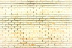 Texturice el fondo de piedra de la pared de ladrillo amarilla clara, superficie de la pared de la textura con los ladrillos liger Fotos de archivo