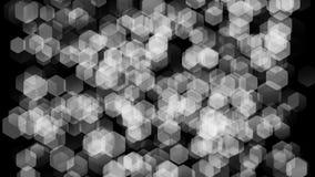 Texturice la acumulación grande de partículas transparentes bajo la forma de bolas de forma diamantada almacen de video
