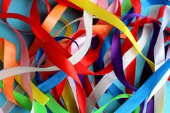 Texturice la pila de cintas de diversos colores fotos de archivo libres de regalías