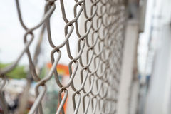 Texturice la red del metal de la jaula Fotografía de archivo