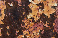 Texturice mucho color rojo y anaranjado oxidado del metal Fotos de archivo