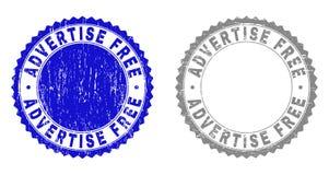 Texturisé ANNONCEZ les timbres grunges LIBRES avec le ruban illustration libre de droits