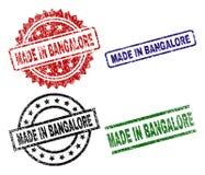 Texturisé grunge FAIT DANS des timbres de joint de BANGALORE illustration libre de droits