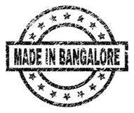 Texturisé grunge FAIT DANS le joint de timbre de BANGALORE illustration de vecteur