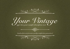 Texturized vintage background with ornament. With special text Royalty Free Stock Photos