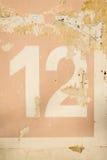 Texturstående för nummer 12 Royaltyfria Foton