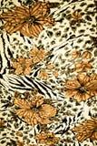 Texturtyg av tigertryck Arkivbild