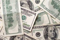 TexturUS dollar Bakgrund av hundra dollarräkningar arkivbild