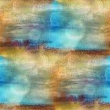 Texturvattenfärgbrunt, blått sömlöst stock illustrationer