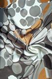 Textuur, achtergrond, patroon Abstract patroon op een zijdestof, Royalty-vrije Stock Afbeeldingen